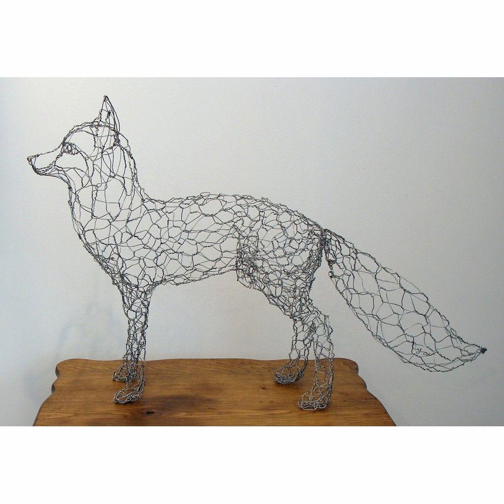 Fox Wire Sculpture | Pinterest | Chicken wire, Foxes and Wire art