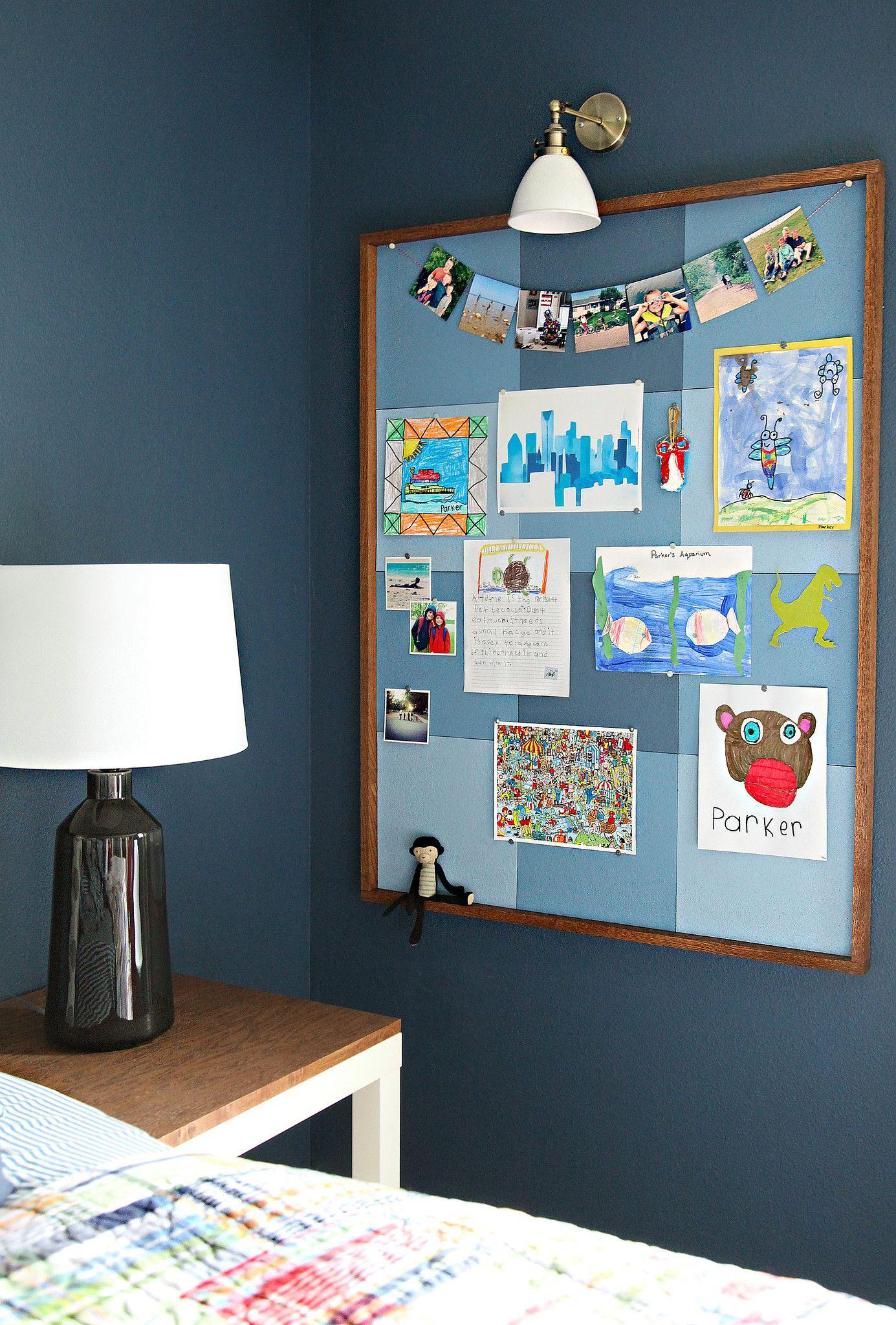 Boy S Bedroom Workspace Cork Board Ideas For Bedroom Kids