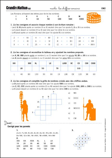 Maths Cm2 Les Chiffres Romains Ecole Pinterest Math