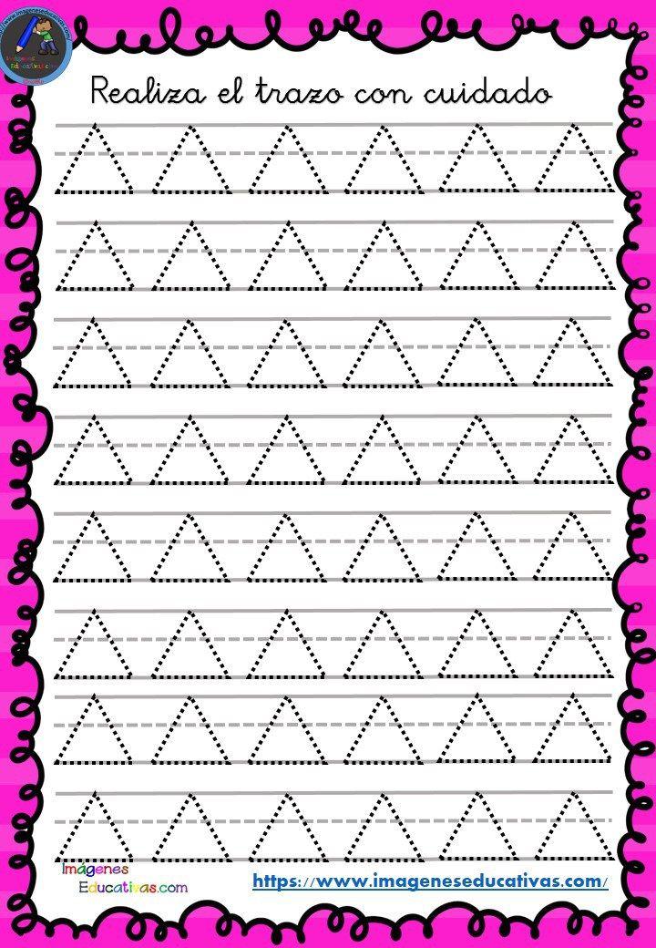 Fichas de preescritura y perfeccionamiento de caligrafía (27) - Imagenes Educativas