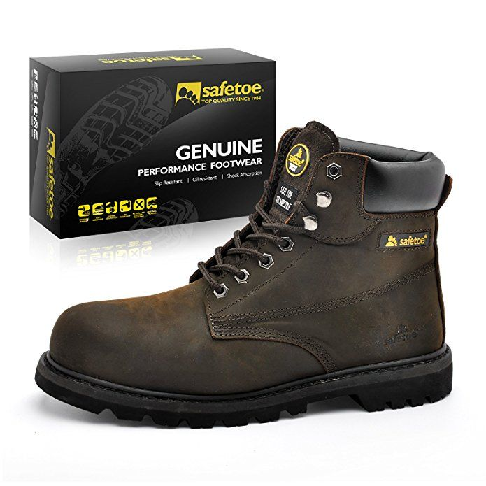 Affiliate  SAFETOE Work Boots for Men Steel Toe Safety Shoes - M8179 Women  Leather Wide Width Safety Toe Boots  Boot  SafetyBoot  Safety e973b42b7