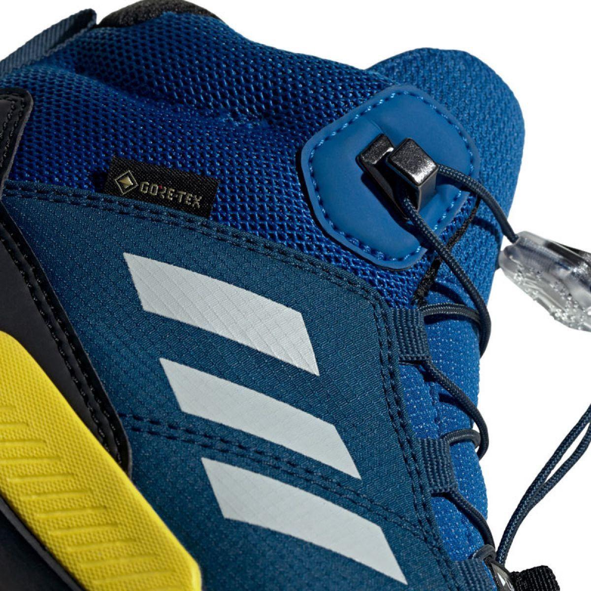 Buty Adidas Terrex Mid Gtx Jr Bc0596 Czarne Niebieskie Zielone Adidas Junior Shoes Durable Shoes