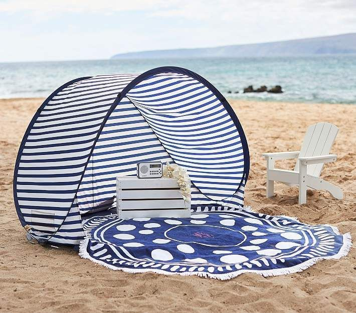 Pottery Barn Kids Family Pop Up Tent Small Navy White