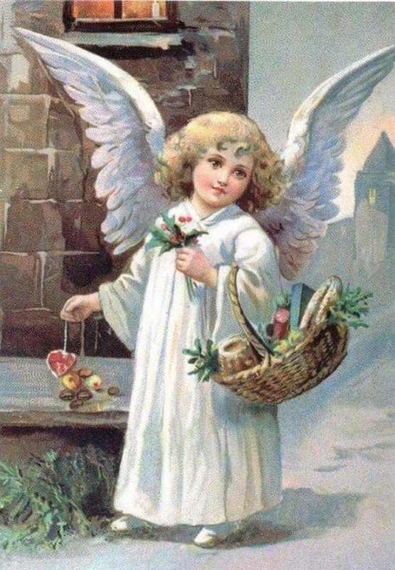 Юбилеем свадьбы, винтажные открытки с ангелом