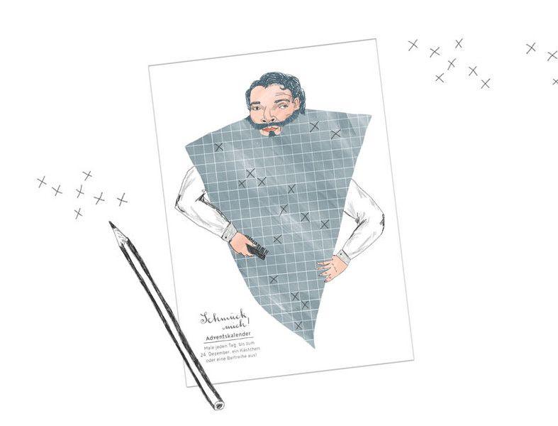 Adventskalender - A4 Adventskalender, für Männer, Hipster & J... - ein Designerstück von stiften-gehen bei DaWanda