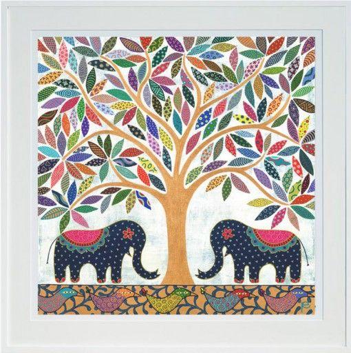 elephant-banyan-large-framed-print