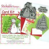 8763 - Snow Buddy Limited EditionRubber Stamp Kit - Sku: LEK101