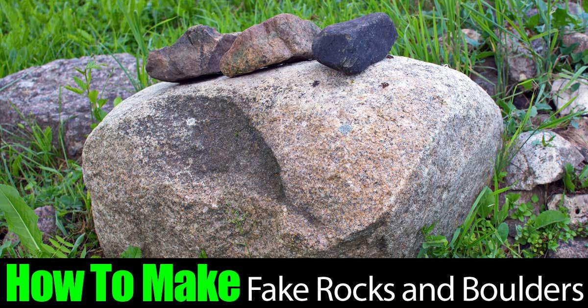 how to make fake rocks for props