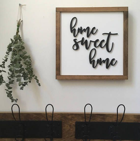 Home Sweet Home Black Or Gold Lettering This Wood Sign Features