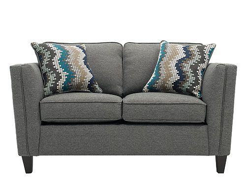 with modern styling and soft chenille upholstery the paley loveseat rh pinterest com