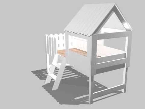 Stunning Spielbett BAUMHAUS f r kleine Abenteurer inkl Lattenrost Massivholz wei xcm
