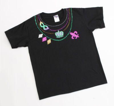 Mardi Gras Mania T Shirt Diy Crafts Pinterest