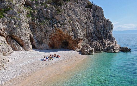 Strand Klančac, Brseč Istria Experience Istrien