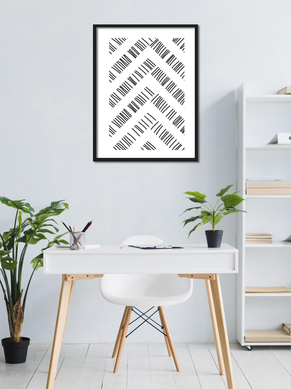Geometrisches Lineart Streifen Linienbild fürs Büro / Studio / Loft / Wohnzimmer - Direkt Digitaler Download druckbar zum herunterladen von PrintfulPoetry auf Etsy