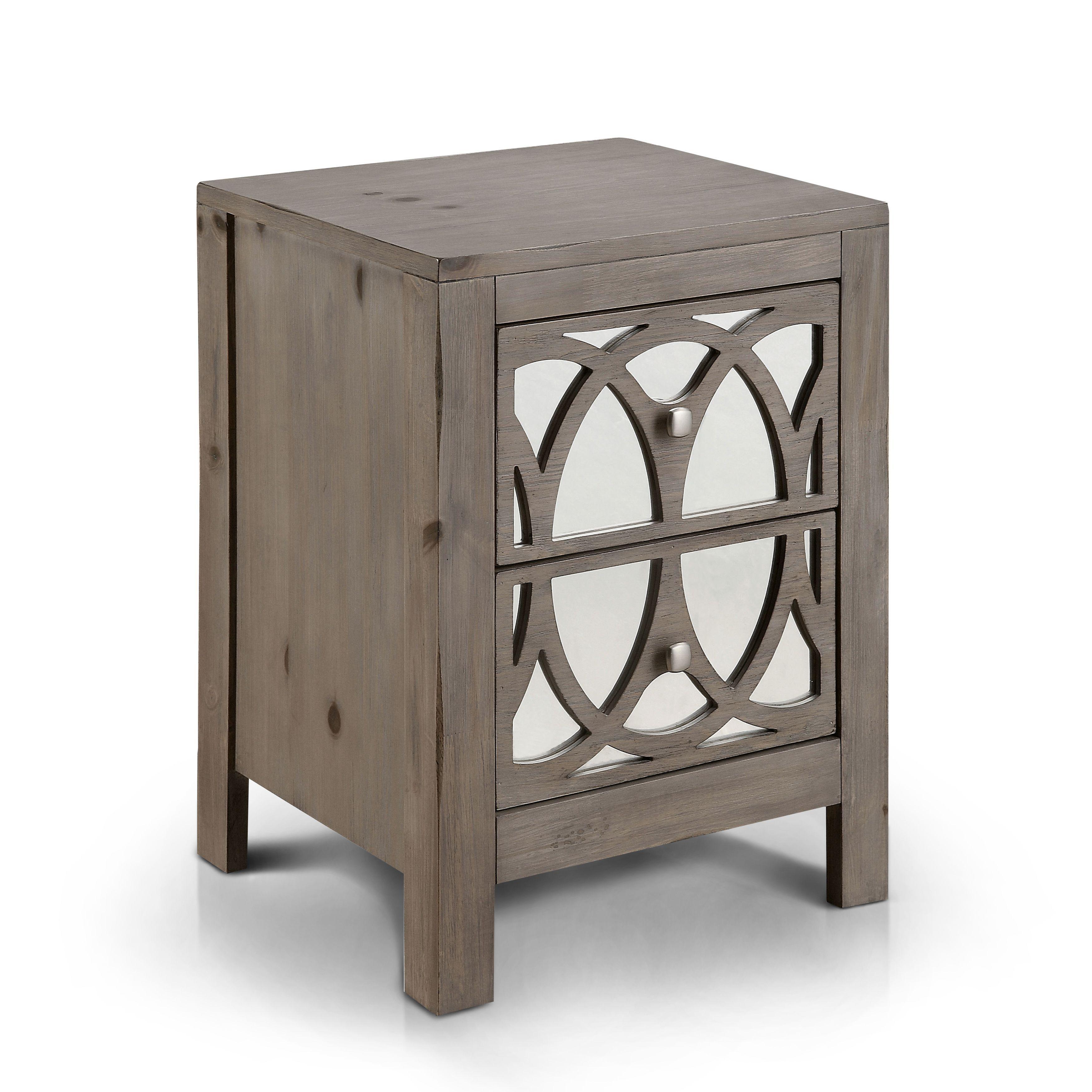 Home Goods Mirrored Furniture: Furniture Of America Alessa Contemporary Mirrored Rustic 2