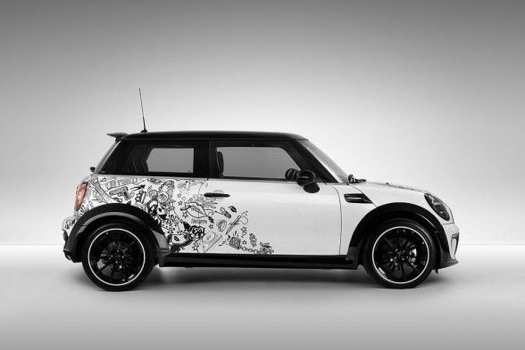 mini cooper bully by simachev 2010 side view hardtop pinterest. Black Bedroom Furniture Sets. Home Design Ideas