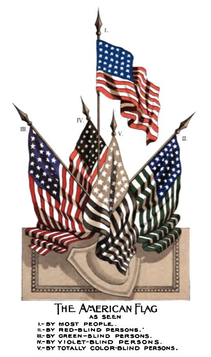 usa american flag color blind chart american usa flag pinterest