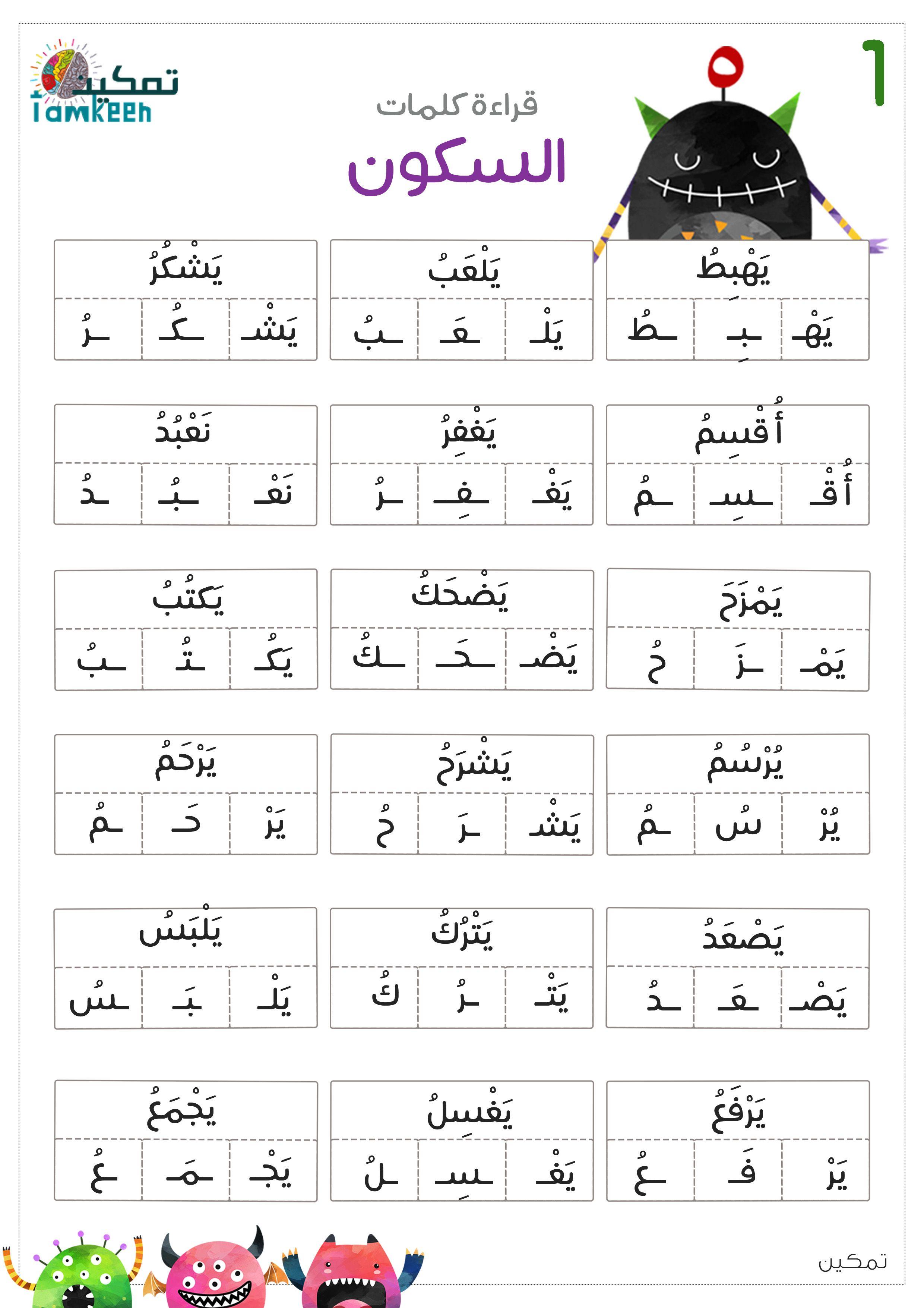 السكون Learning Arabic Arabic Alphabet For Kids Arabic Kids