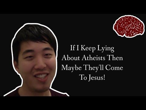 bratty christian with fake ph d sneers over straw atheists youtube