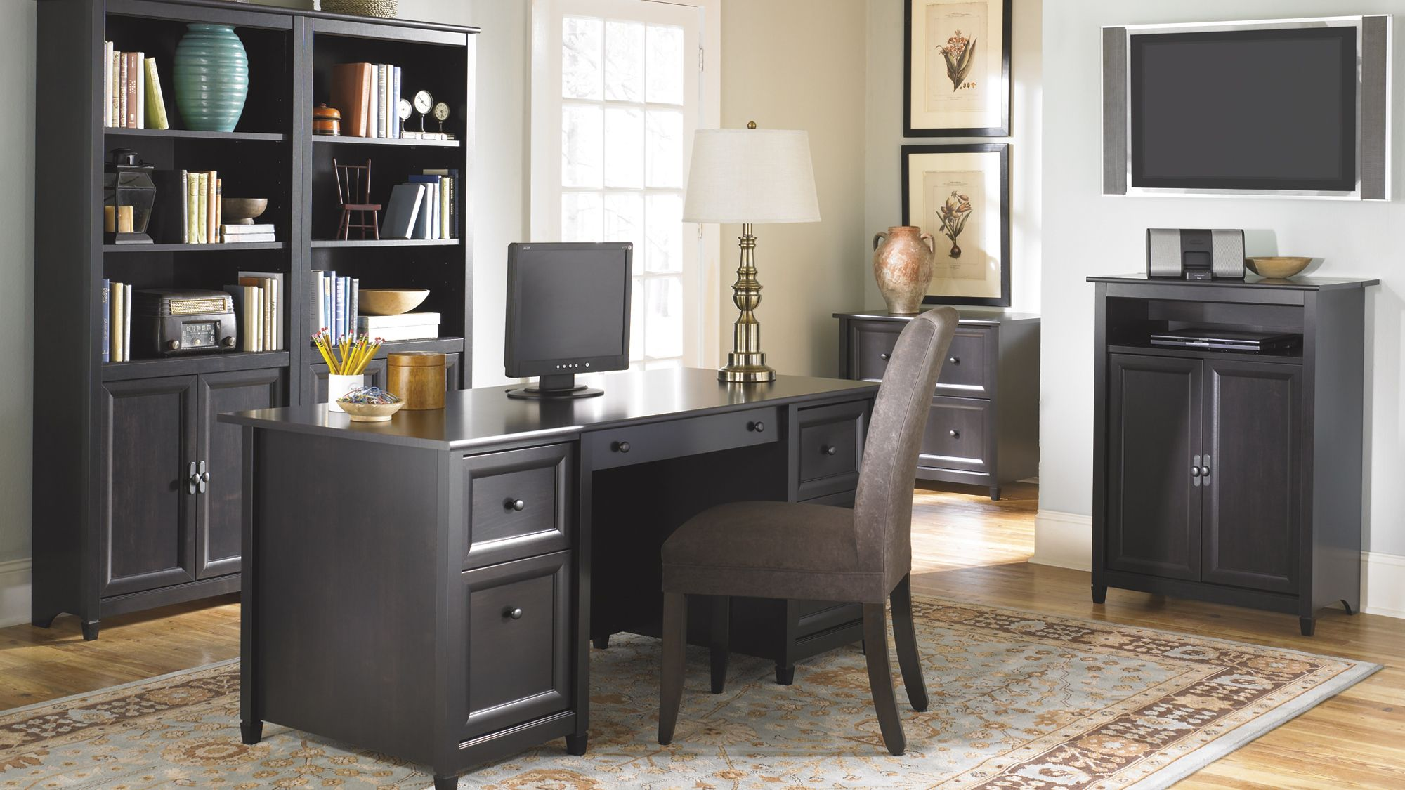 99 Sauder Edgewater Executive Desk Real Wood Home Office Furniture Check More At Http