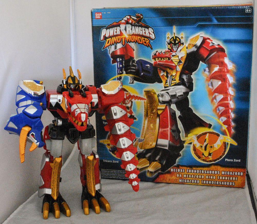 Bandai Power Rangers Dino Thunder Deluxe Thundersaurus Megazord ...
