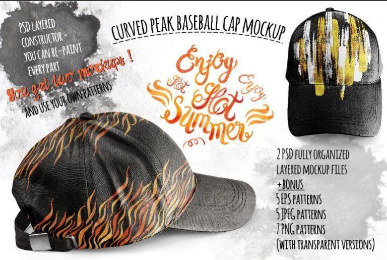 Download 51 Cap Mockup Psd And Hat Templates All Kinds Texty Cafe Baseball Cap Baseball Cap