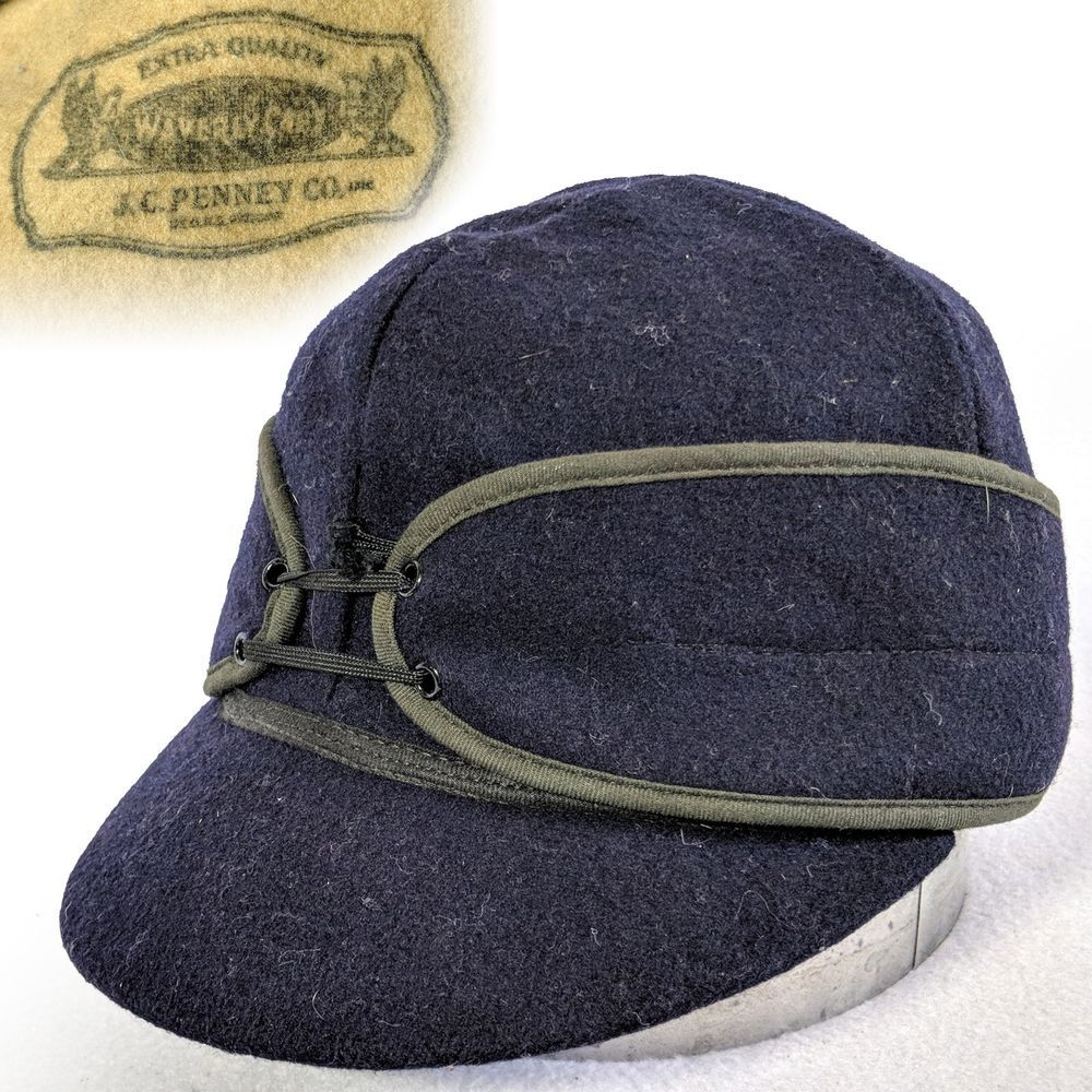 e97da2855ed Vintage 7-1 8 1920s 1930s JC Penney Waverly Caps Kromer Workwear men s hat   fashion  clothing  shoes  accessories  vintage  vintageaccessories (ebay  link)
