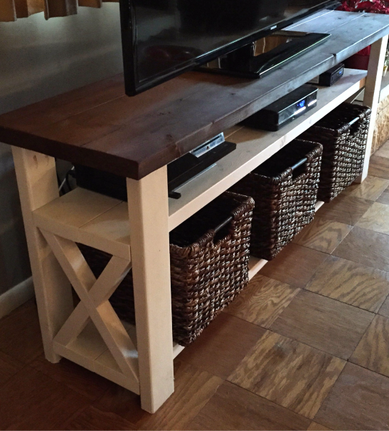 Rustic X Tv Stand Diy Furniture Projects Rustic X Tv Stand