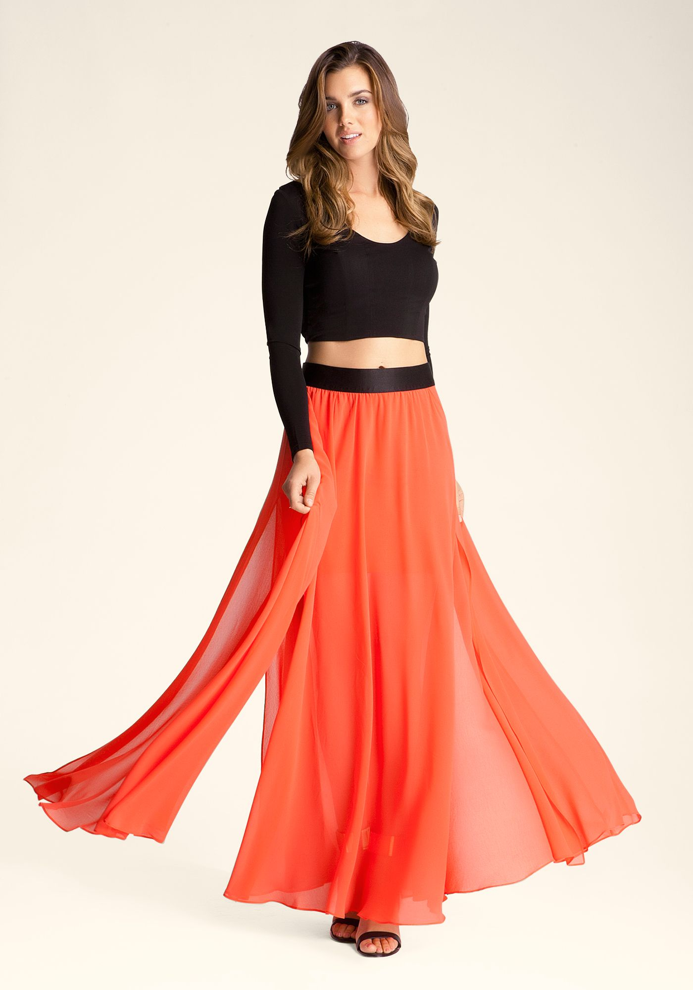 6a2f00bb3 Bebe ---- Pleated-Maxi-Skirt ---- Rachel Moore ---- 227645-hib ---