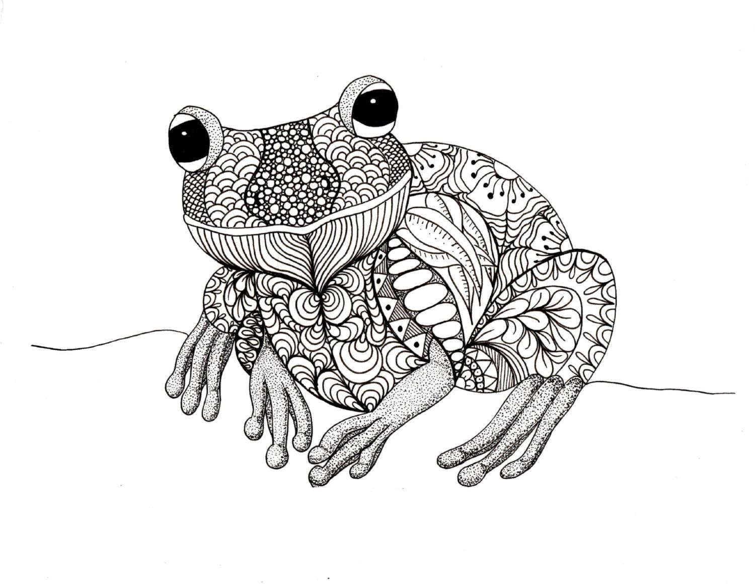 Doodle Frog Colouring Page With Images Frog Coloring Pages Animal Coloring Pages Adult Coloring Animals