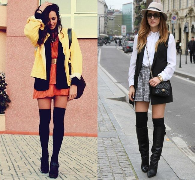 knee high boots with the knee socks search
