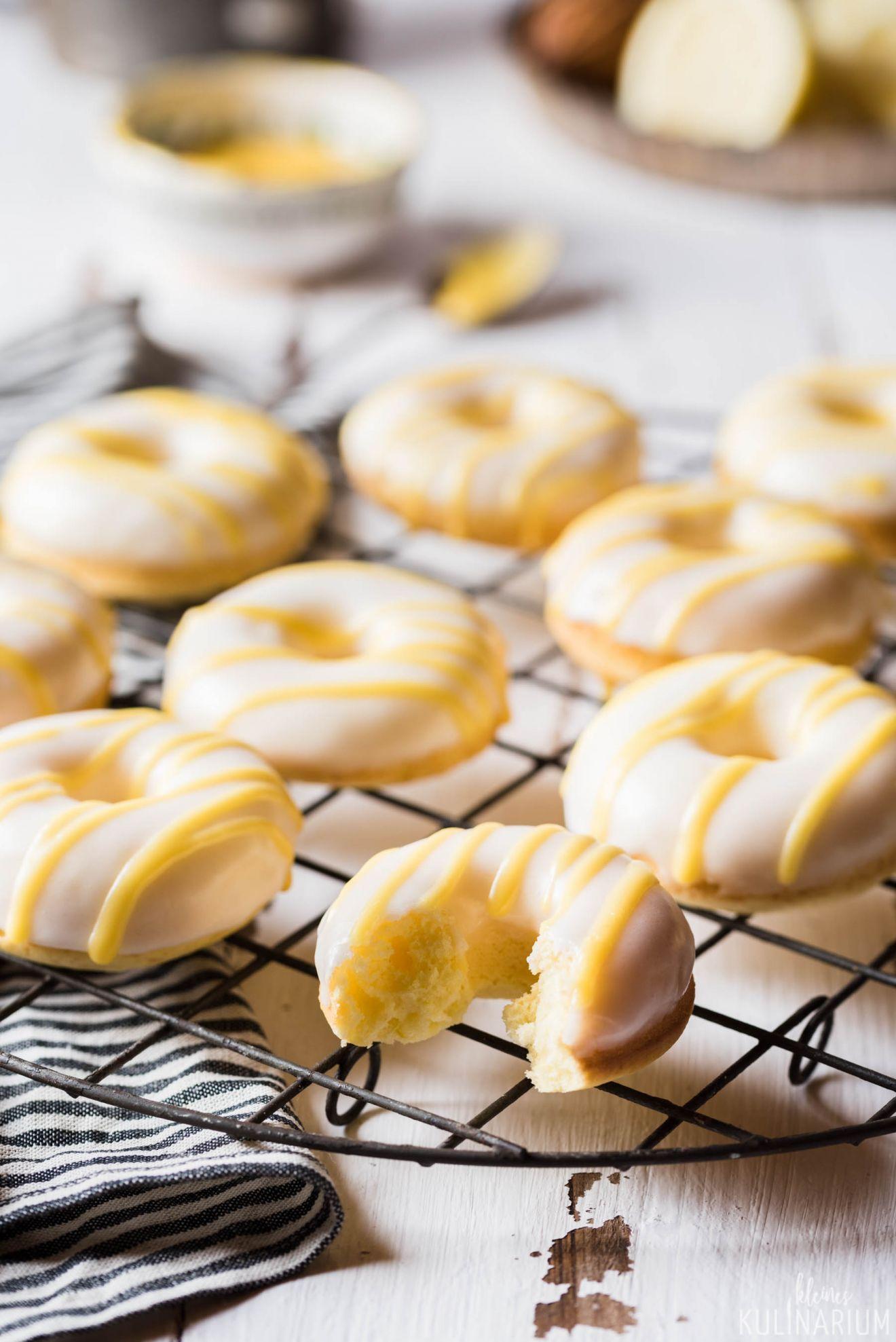 zitronen donut aus dem backofen rezept backen pinterest. Black Bedroom Furniture Sets. Home Design Ideas