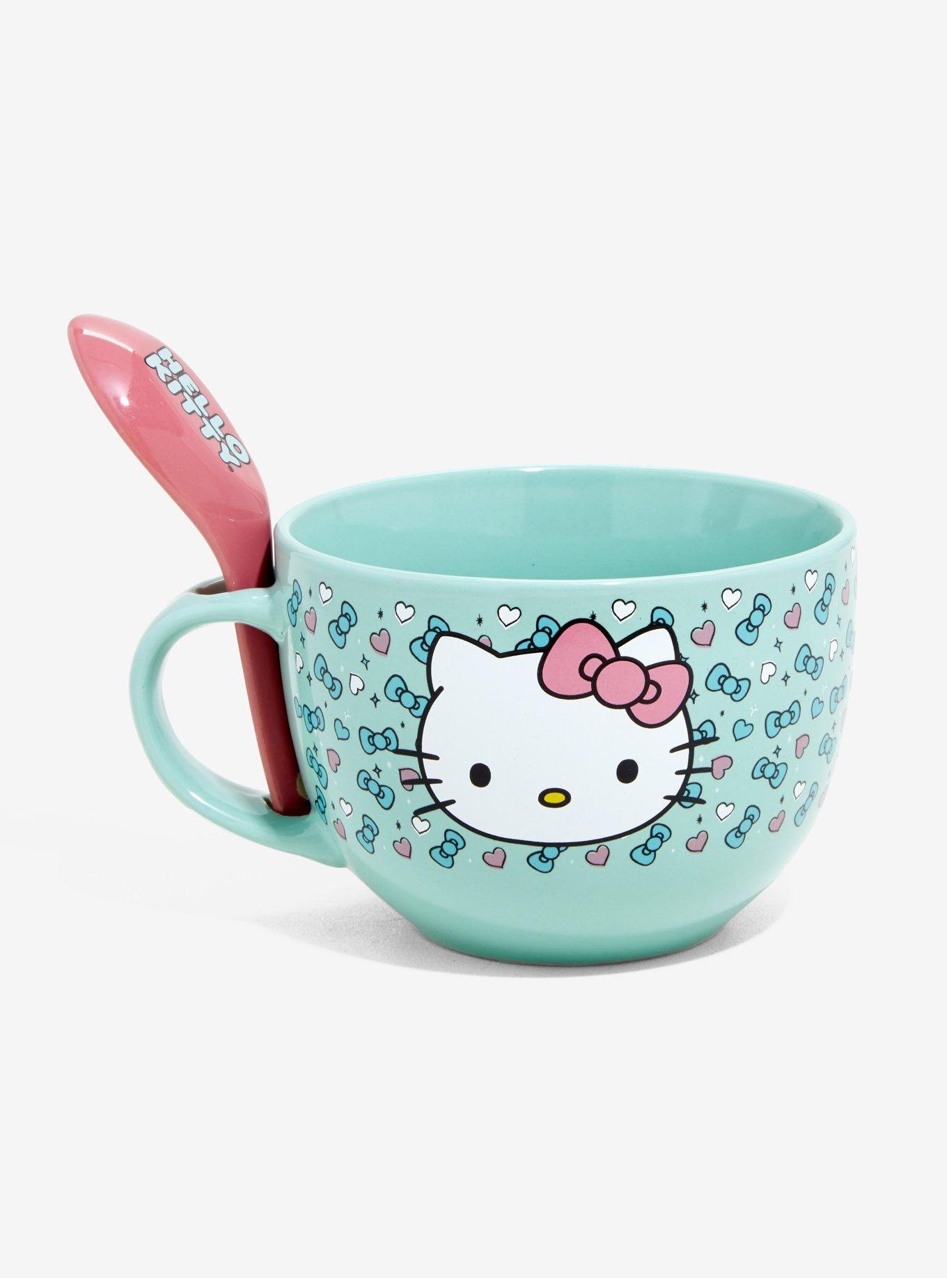 7bd8a2850 Hello Kitty Mint Soup Mug & Spoon Set | Cute Things | Hello kitty ...
