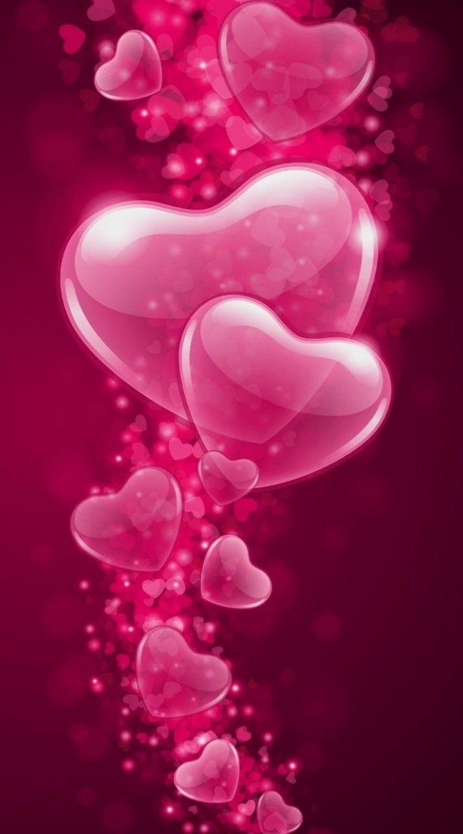 Wallpaper By Artist Unknown Love Pink Wallpaper Heart Wallpaper Valentines Wallpaper
