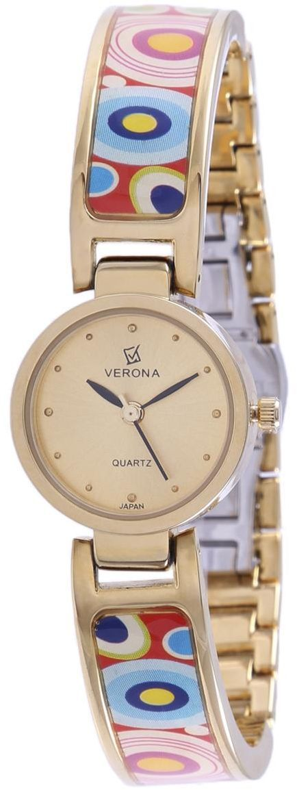af25a5c1e1d5 timenchimes   Verona Women s Gold Dial Casual Watch 22k Gold Plated Strap -  7564GB-L price