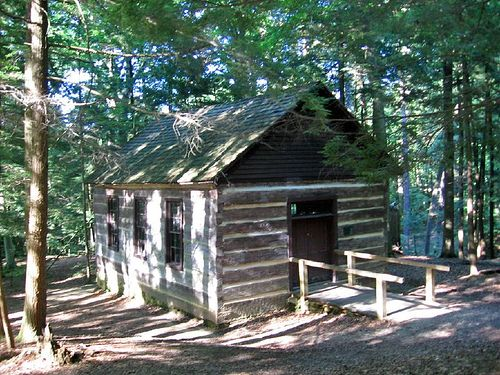 Log Cabin Church At Turkey Run State Park   Had A Retreat Here While  Working At Free Methodist Worl Ministries Center