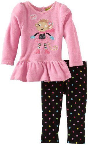 6a363e43e Watch Me Grow by Sesame Street Babygirls Newborn 2 Piece Monkey ...