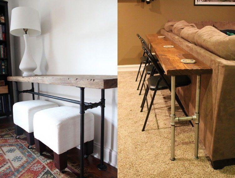 Zweckmäßiger Kleiner Beistelltisch Oder Ein Konsolentisch Hinter Sofa Wäre  Gute Option Dekoration Und Funktionalität Unter Einem Hut Zu Bringen.