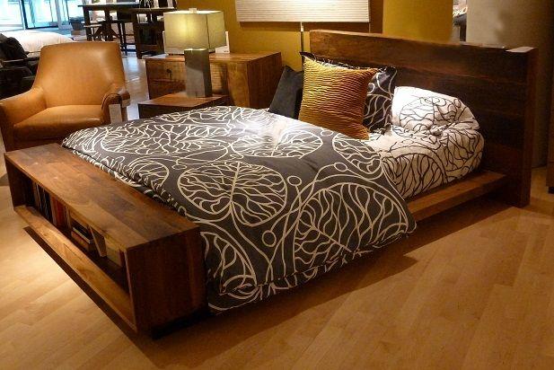 Conjunto cama madera r stico - Cabeceros de cama rusticos ...