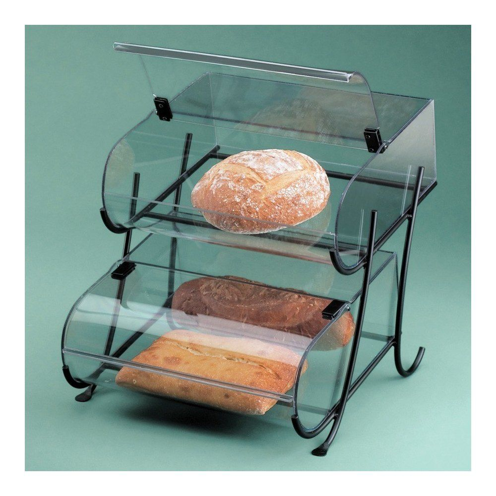 Cal-Mil 1280-2 Two Tier Black Wire Pastry Display - 15 1/2\