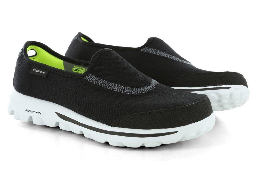 Womens Skechers GO Walk Impress Memory Form Fit Slip On Black ...