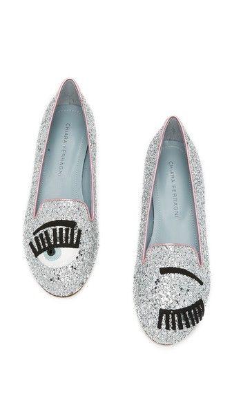 Chiara Ferragni Glitter Eyes Smoking Slippers