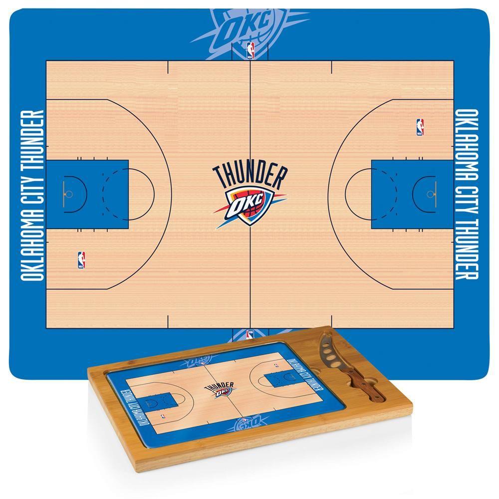 Oklahoma City Thunder Basketball Court Glass Top Cutting Board ...