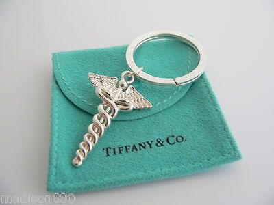 Tiffany Amp Co Silver Medical Doctor Caduceus Key Ring Key
