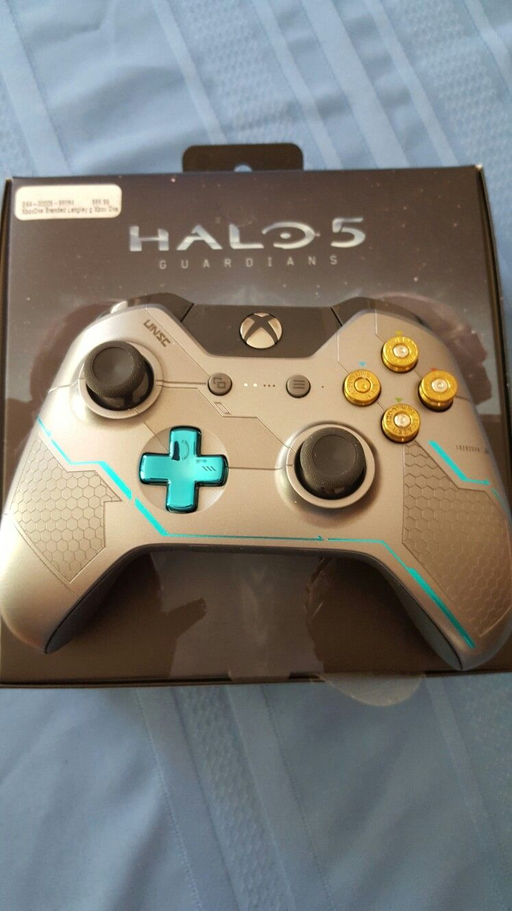 Homemade custom Xbox One controller  Halo 5 with bullet