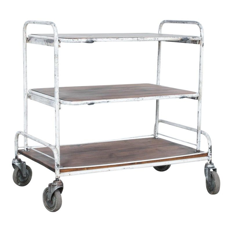 1940s French Industrial Cart