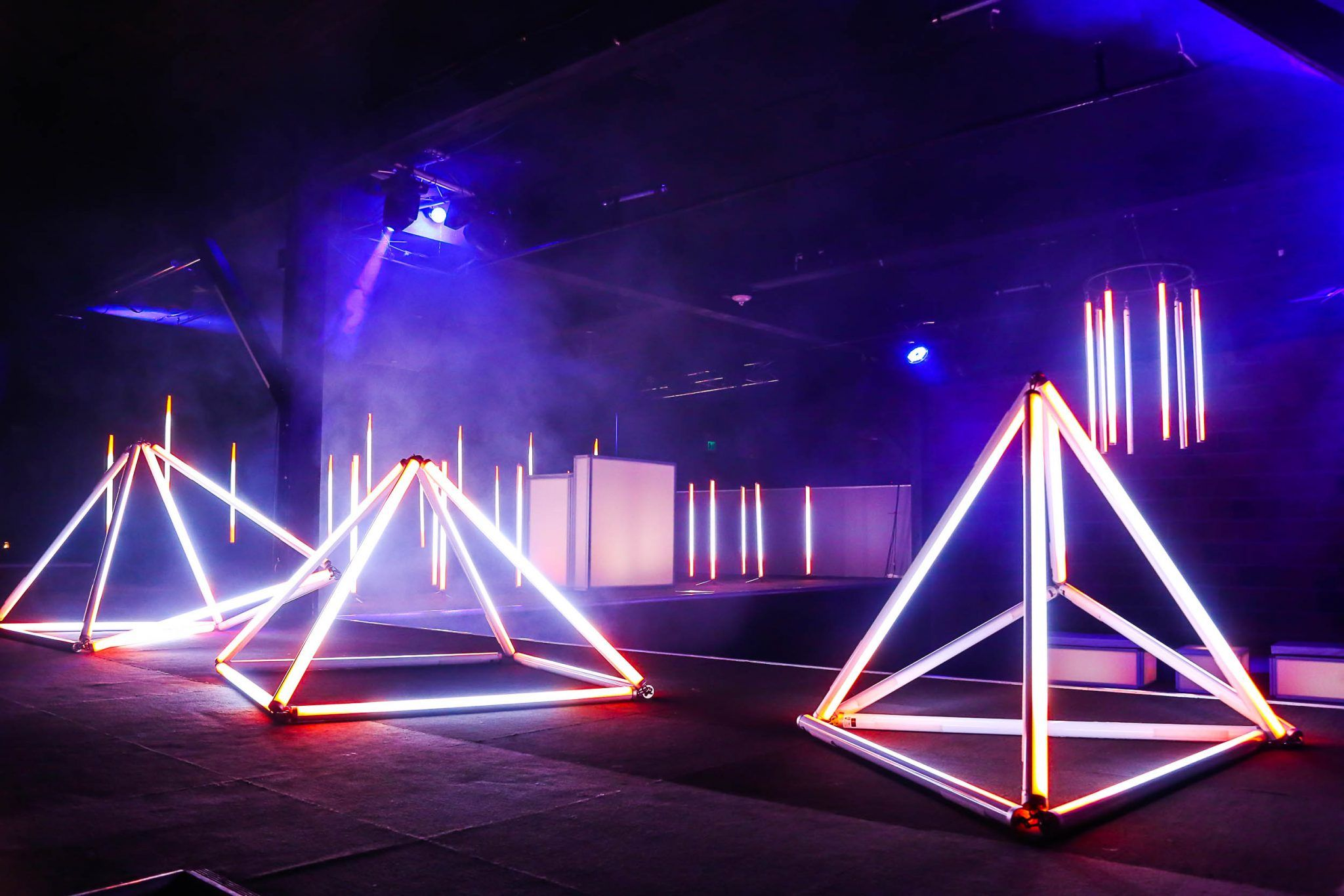 Wireless Pixel Tube Stage Lighting Design Church Stage Design Event Lighting