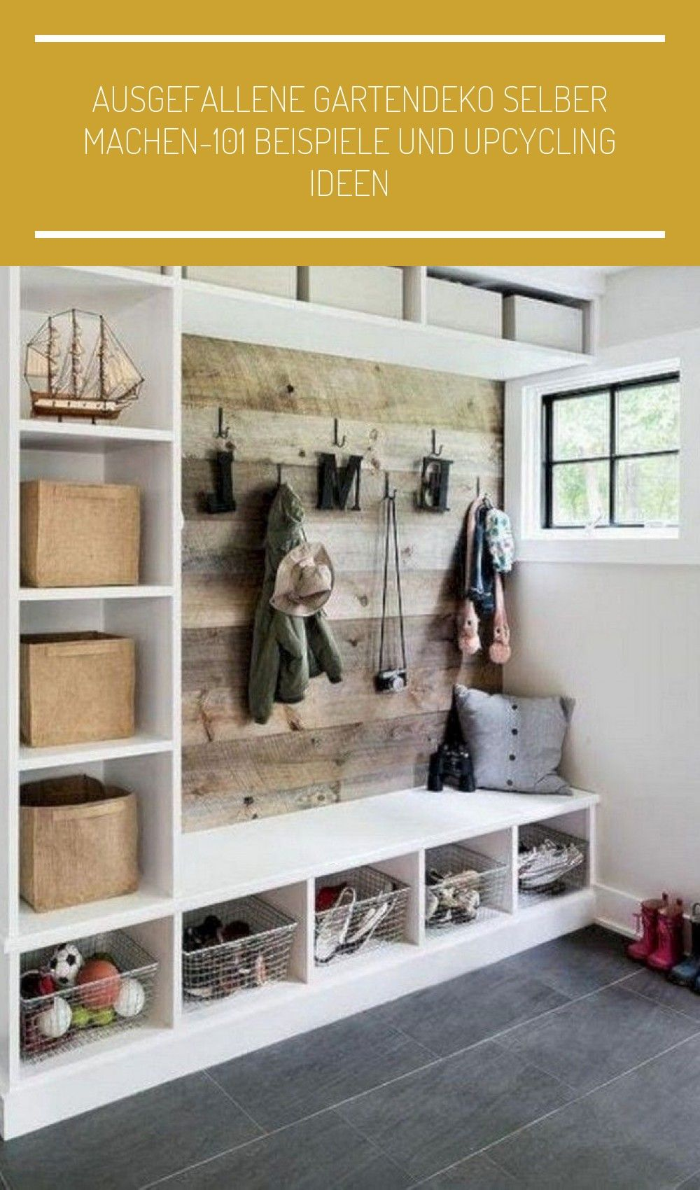 Ausgefallene Garderobe Garderobe Ideen Diy In 2020 | Home Decor, Rustic House, Diy Mudroom Bench