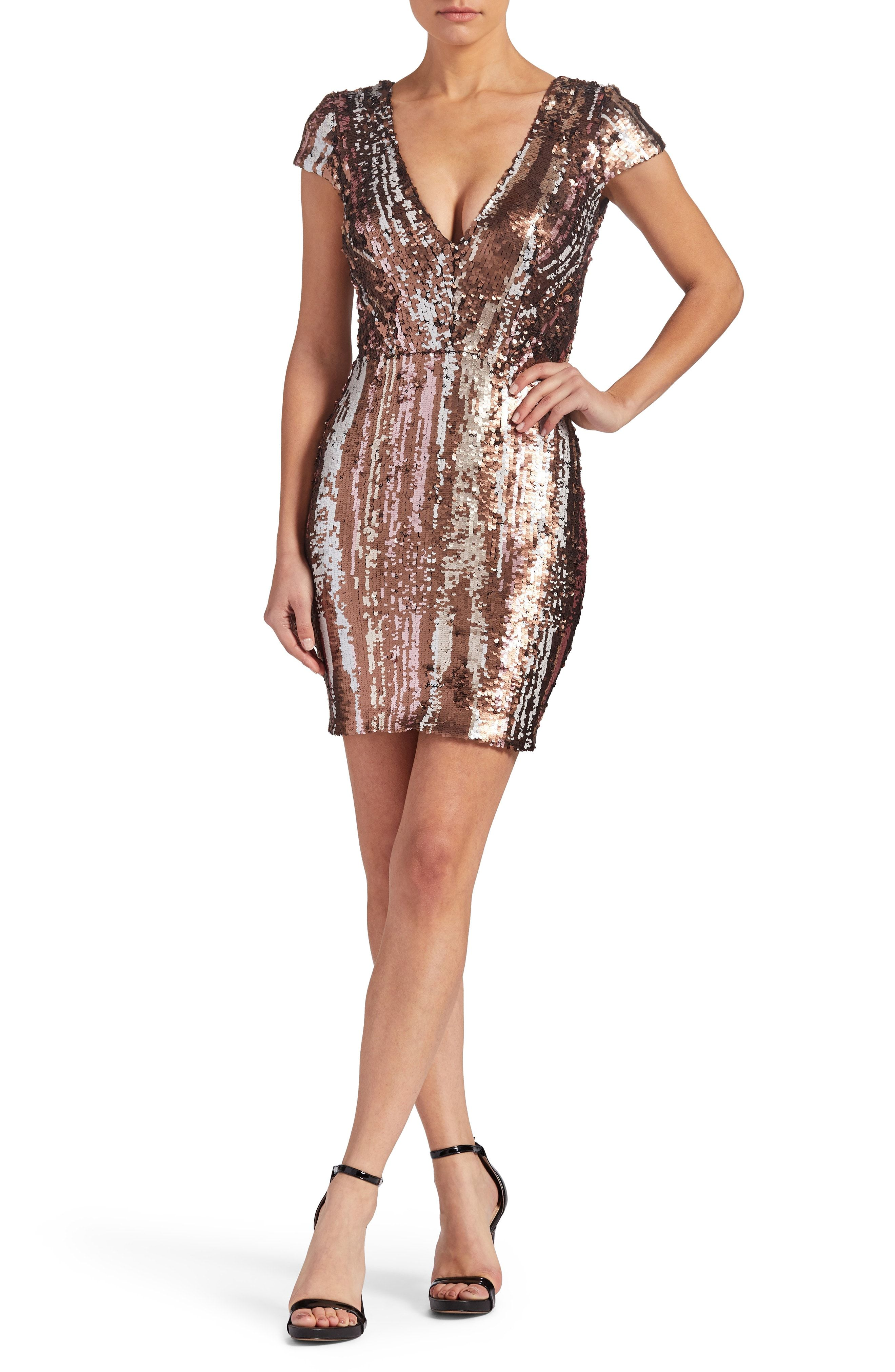 1f45f266a7 Dress the Population Zoe Sequin Minidress (Nordstrom Exclusive ...