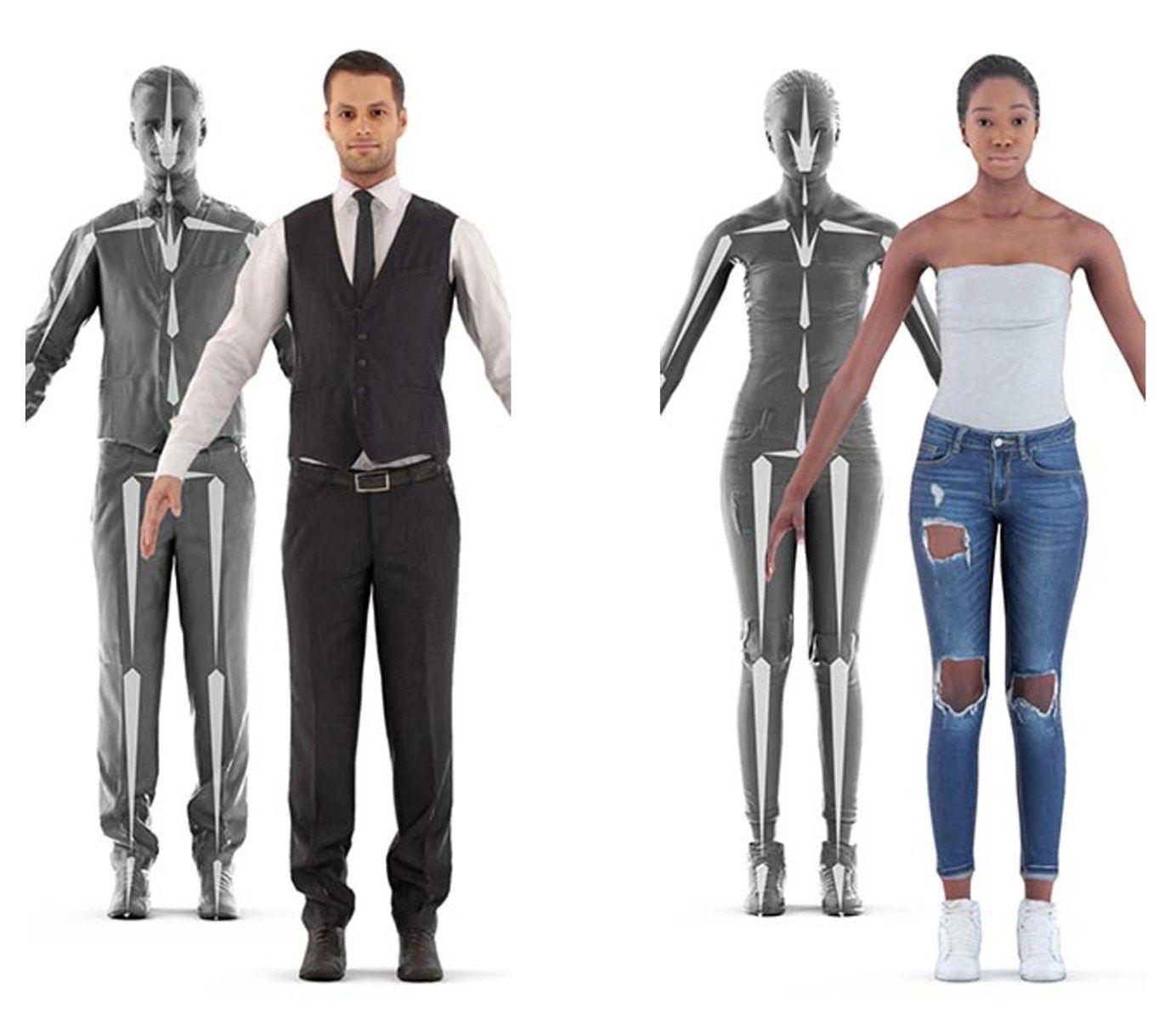 3D Scan Man Woman Free 3D Model Model, Women, Female